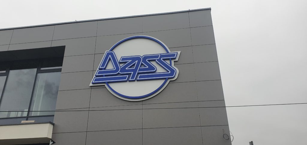 svetelné logo DASS
