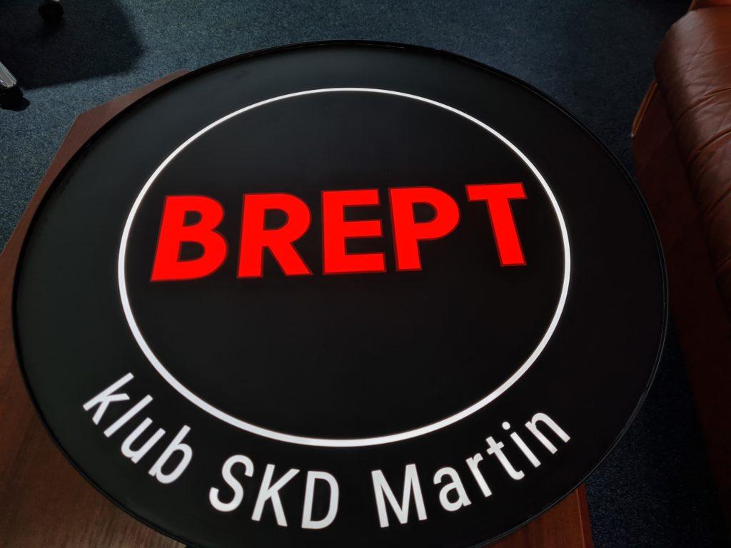 svetelné logo BREPT