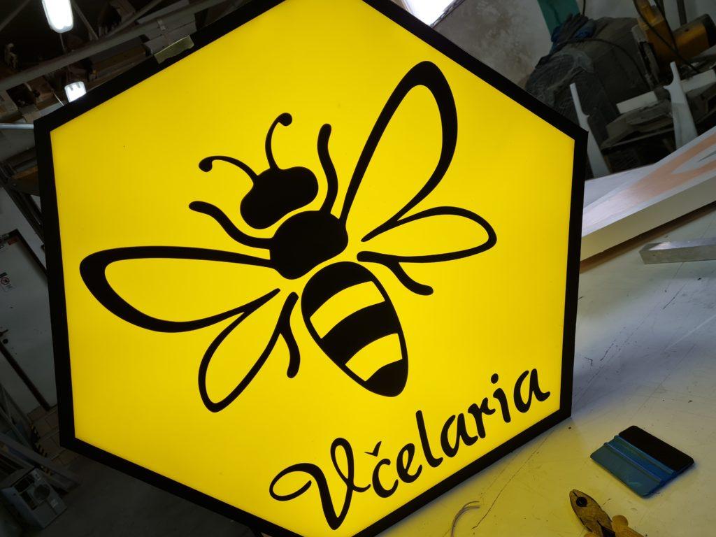 svetelné logo VČELARIA