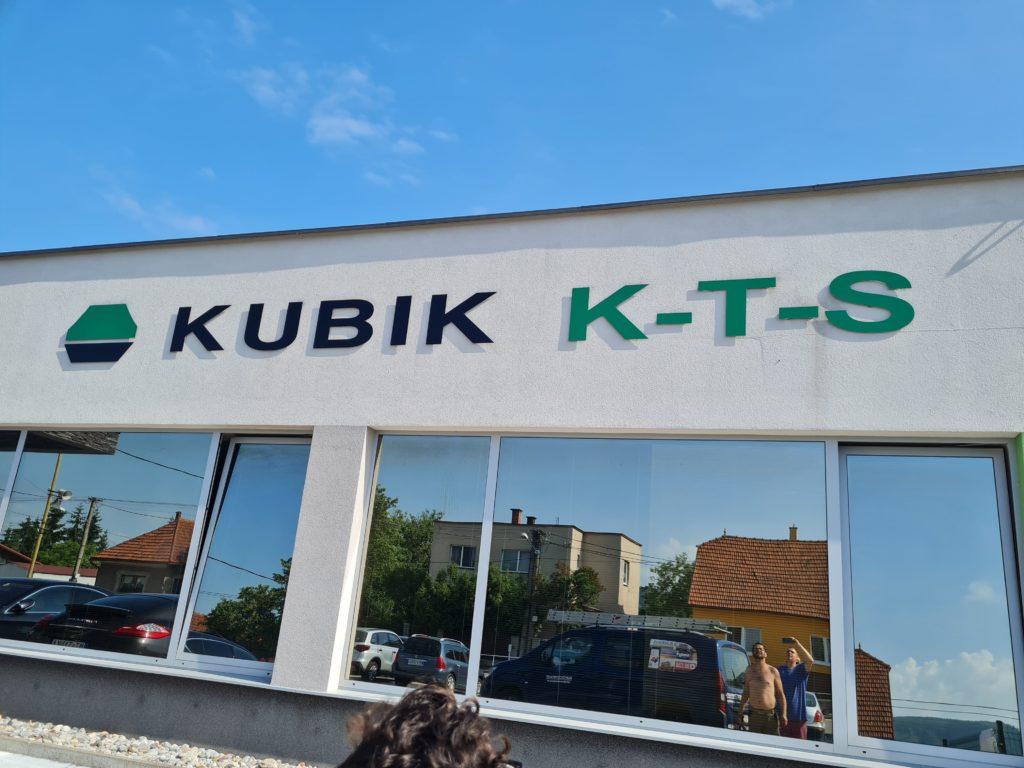 3D nápis – KUBIK K-T-S