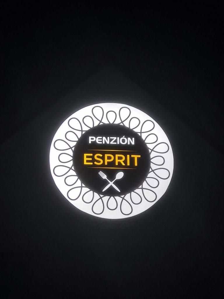 svetelná reklama – Penzión ESPRIT