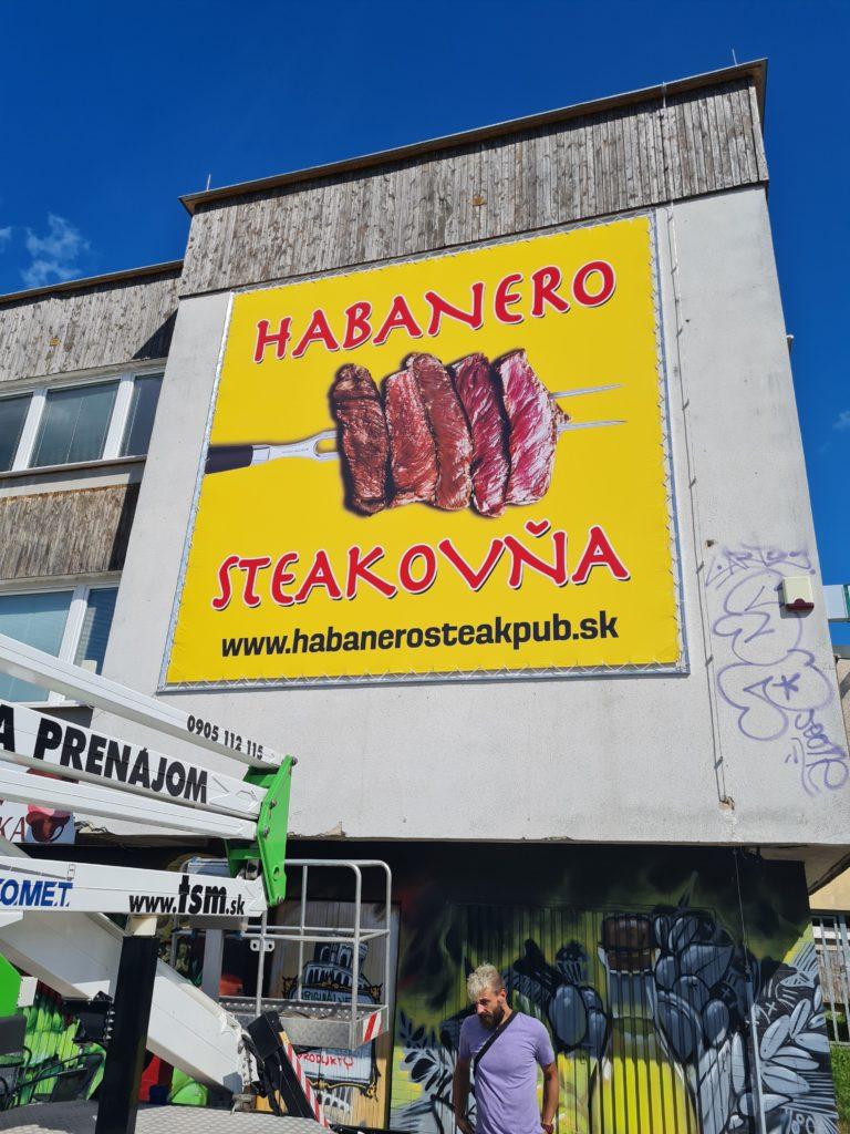 reklamné bannery – HABANERO STEAK PUB